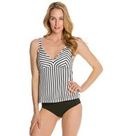 Sunsets Coastline Apron Open Back Tankini Top