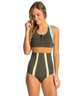 Billabong Women's 1MM Shorty Jane Front Zip Spring Suit