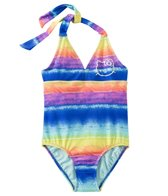 Hello Kitty Girls' California Dreaming Halter Tie Back One Piece (7yrs-14yrs)