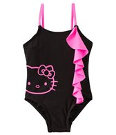 Hello Kitty Girls' Forever Pink Ruffle One Piece (4yrs-6X)