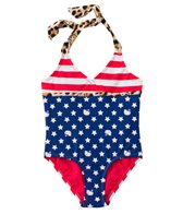 Hello Kitty Girls' Stars & Stripes Halter One Piece (4yrs-6X)