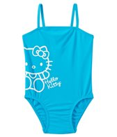 Hello Kitty Girls' Aqua Solid Logo One Piece (2T-4T)