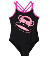 Paul Frank Girls' Pink Julius & Dots Glitter Monkey One Piece (2T-4T)