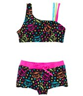 Paul Frank Girls' Neon Julius Boy Short Two Piece Set (2T-4T)