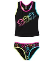 Paul Frank Girls' Neon Julius Racerback Tankini Two Piece Set (4yrs-6X)