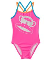 Paul Frank Girls' Julius Circles Glitter Monkey One Piece (2T-4T)