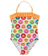Paul Frank Girls' Julius Circles Ruffle One Piece (4yrs-6X)
