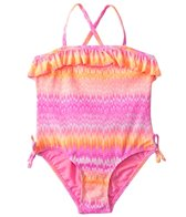 Kensie Girl Capri Flame Ombre Ruffle One Piece (4yrs-6X)