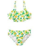 Kensie Girl Fresh Direct Lemon Flutter Bandeau Two Piece Set (7yrs-14yrs)
