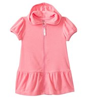 Kensie Girl Solid Coral Hoodie Cover Up (2T-4T)
