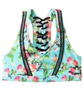 California Kisses Girls' Gypsy Rose Racerback Lace Up Top (7yrs-14yrs)