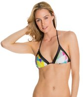 PilyQ Geo Mix Up Tri Halter Bikini Top