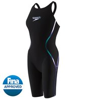 Speedo Women's LZR Racer X Open Back Kneeskin Tech Suit
