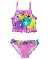 Sunshine Zone Girls' Rainbow Flower Ruffle Two Piece Set (4yrs-6X)