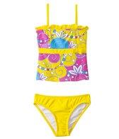 Sunshine Zone Girls' Flower Swirls Tankini Two Piece (2T-4T)