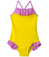 Sunshine Zone Girls' Solid Color Block Ruffle One Piece (6mos-18mos)