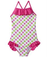 Sunshine Zone Girls' Spotty Dotty Ruffle One Piece (6mos-18mos)