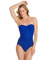 Robin Piccone Yolanda Pleated Bandeau One Piece