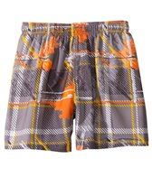 Sunshine Zone Plaid Tropical Volley Short