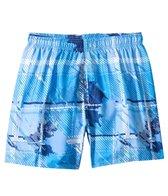 Sunshine Zone Plaid Tropical Volley Short