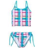 405 South Girls' Picnic Plaid Tankini Two Piece Set (4yrs-6X)