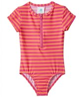 Roxy Girls' Flamingo Beach One Piece Rashguard (2T-5T)