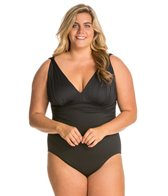 Carmen Marc Valvo Plus Size Tribal Muse Solid One Piece