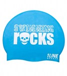 1Line Sports Swimming Rocks Silicone Cap