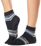 Toesox Ankle Length Full-Toe Grip Socks - Black - Small
