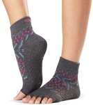 Toesox Ankle Length Half-Toe Grip Socks - Lemon Tree - Small