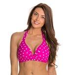 Beach Diva Hot Dot Molded Halter Bikini Top